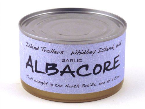 Albacore Tuna Troll Caught Dolphin Safe Sashimi Grade North Pacific Garlic 212 g 7.5 oz
