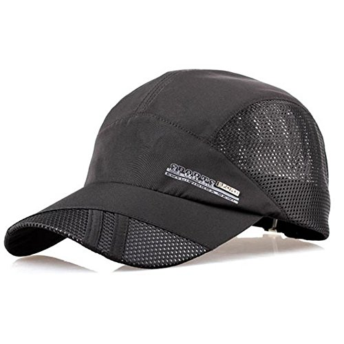 YING LAN Men's Summer Outdoor Sport Baseball Hat Running Visor Sun Cap Black (Sun Visor Hats Sport compare prices)