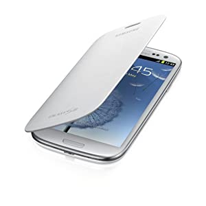 Samsung Galaxy S3 Flip Cover Case (Marble White)