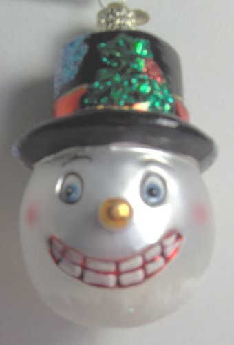 Old World Christmas Vintage Snowman Glass Christmas Ornament