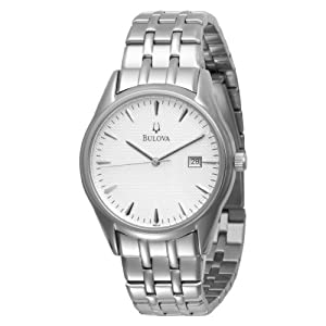 (再降)Bulova 96B119 Bracelet Silver White Dial男士简约手表$70.49曲线未更