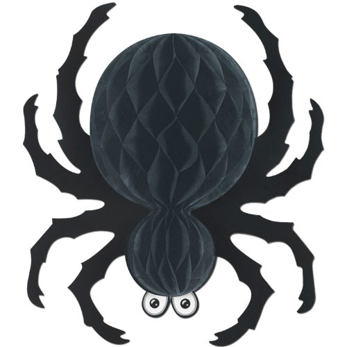 Black Tissue Spider Party Accessory (1 count) (1/Pkg)
