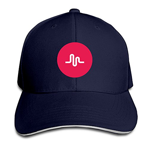 Unisex Retro Musical.ly Musically Fan Music Twill Sandwich Snapback Peaked Bill Cap (Mens Peaked Hats compare prices)