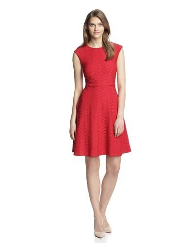 Chetta B Women's Wave Knit Fit & Flair Dress