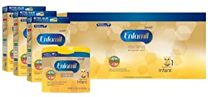 Enfamil Infant Formula Milk-Based with Iron, Combo Pack, 121.8 Ounce (Packaging May Vary)