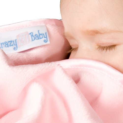 Bambeano® Snuggly Soft Ribbon Edged Baby Blanket PINK