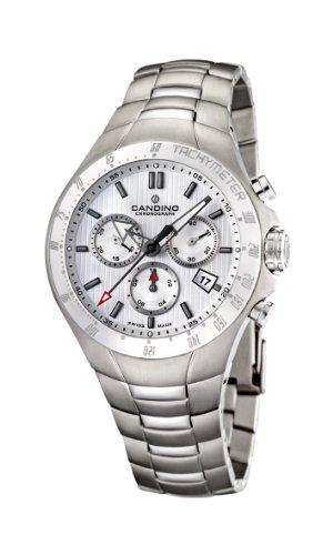 Candino C4430/5 - Reloj cronógrafo de cuarzo para hombre con correa de titanio, color gris