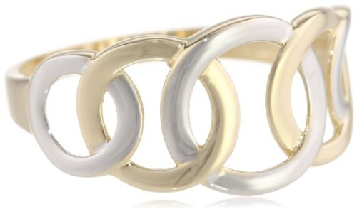 14 - 0 - gold yellow white gold circle design ring ring 13-14 (US size 7) ladies [parallel import goods]