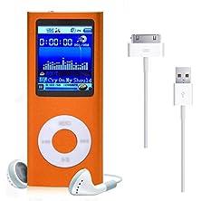 buy Creazy® 1.8'' 8Gb Mp3 Mp4 Slim Digital Lcd Screen Fm Radio Music E-Book Video Player (Orange)