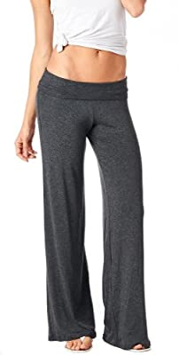 Popana Women's Casual Chic Palazzo Pants - Wide Leg Pants Design - Made in USA