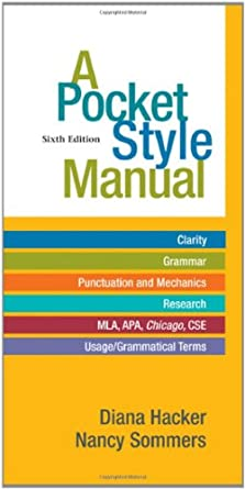 Image: Cover of A Pocket Style Manual by Diana Hacker