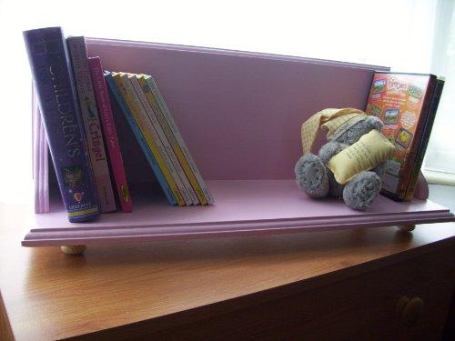 Childrens Bedroom Pink Bookcase, Bookshelf, Shelf, dvd storage.