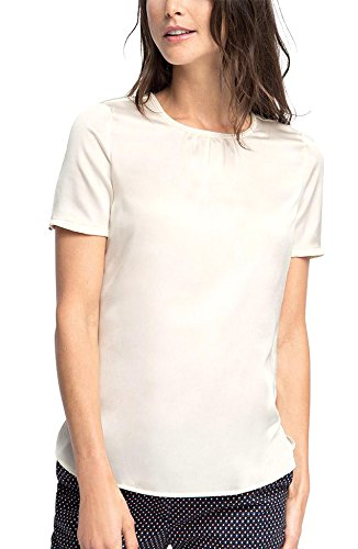ESPRIT Collection 076EO1F009, Camicia Donna, Bianco (OFF WHITE), 38