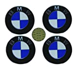 41P2Q2INbJL. SL160  4 BMW Genuine OEM Wheel Center Cap Emblem Decal Sticker 70mm