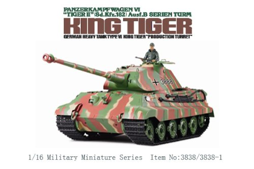 1/16 Scale Radio Remote Control German Porsche Turret KingTiger Tank Air Soft RC Battle Tank Smoke & Sound