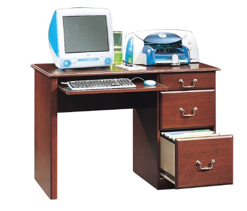 Classic Cherry Compact Computer Desk Lexington Collection by Sauder Office Furniture - 103739