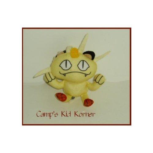 Burger King Pokemon Meowth Plush Beanie - 1999 Nintendo - 1