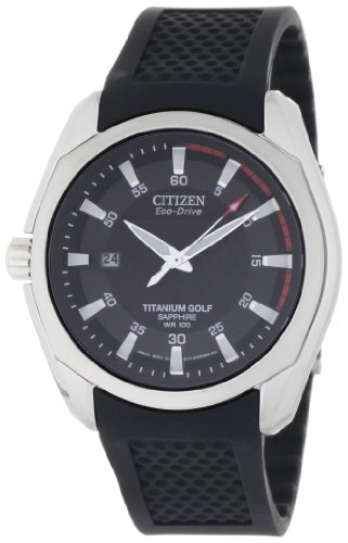 Citizen Men's BM7120-01E Titanium Golf Eco-Drive Watch