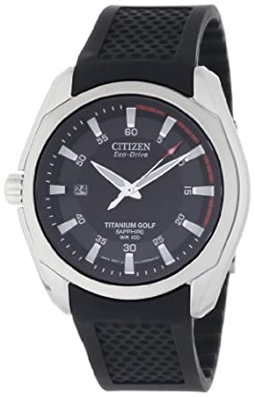 Citizen Men's BM7120-01E Titanium Golf Eco Drive Watch