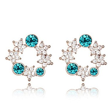 Suravitsell @Shining Follower Crystal Alloy Earrings Blue loup can the third world survive