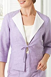 Classic Collection Linen Blend Stab Stitch Jacket [T58-5265-S]