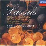 Lassus: Missa Vinum bonum / Missa Triste départ / Missa Quand'io pens'al martire