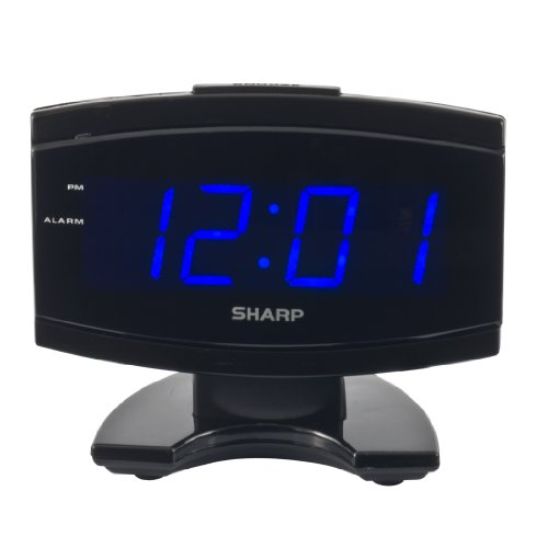 41P2ZKblzpL Sharp SPC106X LED Alarm Clock (Black)