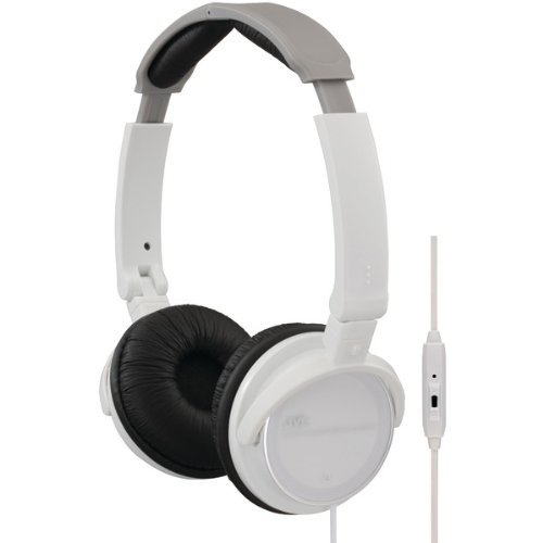 Jvc Hasr500W On-Ear Headband Headphones With Remote & Microphone (White) (Hasr500W)