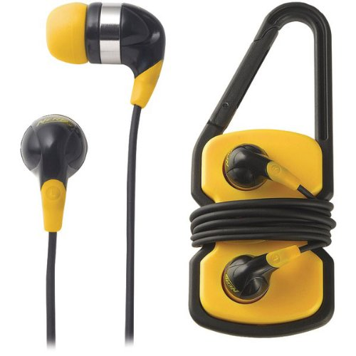 Nerf N822Y Earphones with Carabiner Clip and Cord Wrap (Discontinued by Manufacturer) - 1