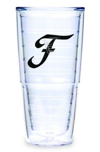Tervis Tumbler Black Laser Twill Initial - F 24-Ounce Double Wall Insulated Tumbler Set Of 2 front-673879
