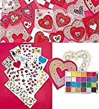 HearthSong Valentines Day Valentine Kit and Lots-of-Love Stickers Special Set