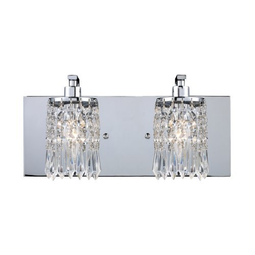 Elk 11229/2 Optix 2-Light Vanity In Polished Chrome by Elk