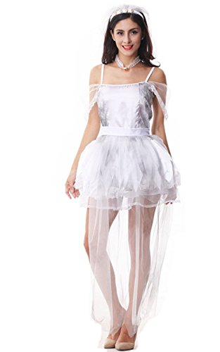 Voglee Zombie Bride Halloween Fancy Dress Costume Cosply