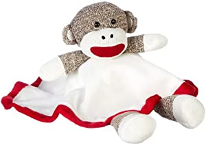 Sock Monkey Plush Lovey Baby Blanket