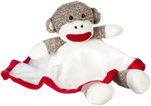 Sock Monkey Plush Lovey Baby Blanket