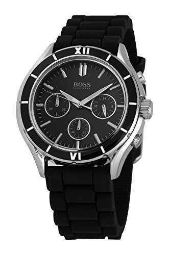 Hugo Boss 1502224 - Reloj de mujer de cuarzo, correa de silicona color negro