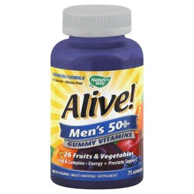 Alive! Men'S 50+ Gummy Vitamins 75 Count
