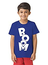 Mintees 100% Combed Cotton Boy's Graphic Print Royal Blue Colour Tshirt MBRNT09-009_4-5Yrs