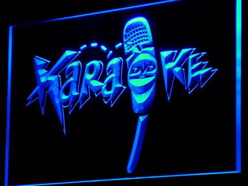 Adv Pro I844-B Dvd Karaoke Microphone Display Neon Light Sign