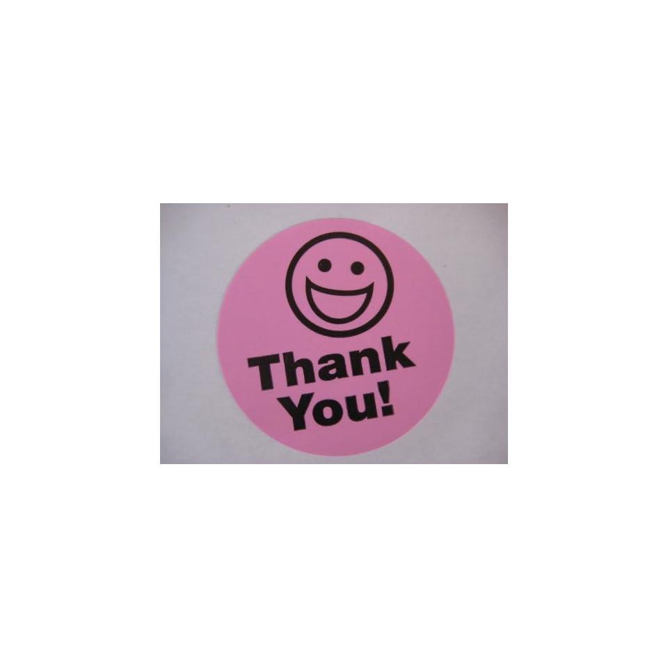 "5000 1.5/"" THANK YOU SMILEY LABEL STICKER YELLOW FS"