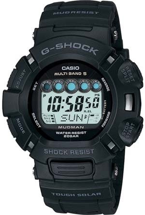Buy CASIO G-SHOCK MUDMAN ATOMIC SOLAR WATCH MUD RESISTANT MULTIBAND 5 GW9000A-1