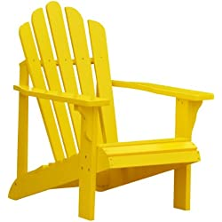 Shine Company Westport Adirondack Chair, Lemon Yellow