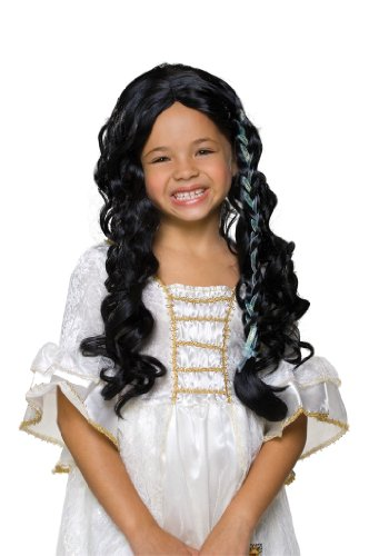 Rubies Glamorous Raven Haired Princess Child Wig
