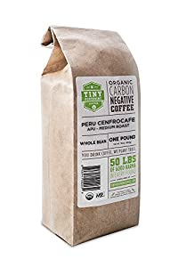 Tiny Footprint Organic Peru APU Medium Roast Coffee, Whole Bean, 1 Pound from Tiny Footprint Coffee