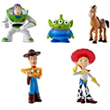 Toy Story 2 Andy Woody Buzz Lightyear Squeeze Role Figure Display Toys PVC 5Pcs Set 4-7cm/1.6-2.7