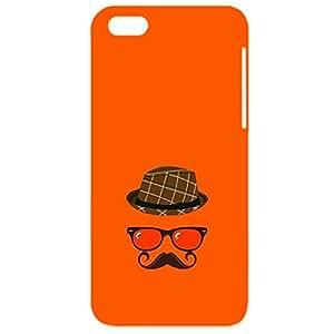 Skin4gadgets Hipster Pattern- Hat, Glasses, Mustache, Color - Orange Red Phone Designer CASE for IPHONE 5S