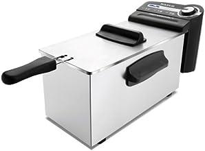 Taurus - Freidora Professional 4, 2100W, 4L, Totalmente Desmontable, Sist. Antimezcla De Sabores. Inox-Negro.