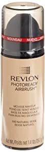 REVLON Photoready Airbrush Mousse Makeup, Natural Beige, 1.4 Ounce
