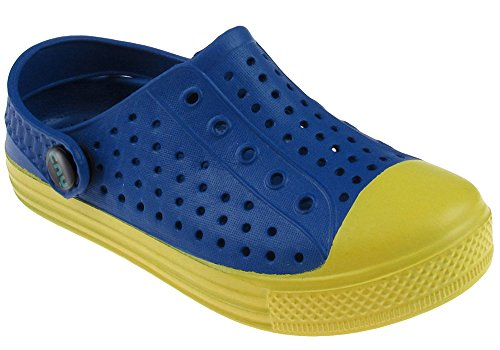 Capelli New York Toddler Boys Color Blocked Sneaker Clog With Back Strap Blue Combo 7