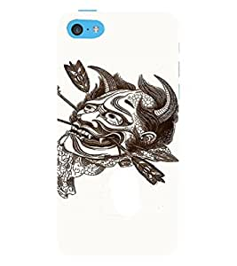 EPICCASE Face Tattoo Mobile Back Case Cover For Apple iPhone 5c (Designer Case)
